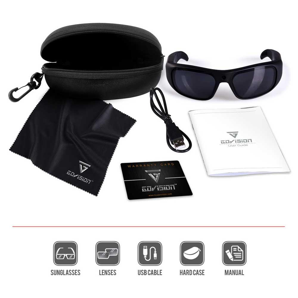 b8749685f3 Water Resistant HD Video Camera Sunglasses GoVision® Apollo