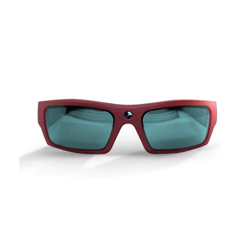 Video Recording Sunglasses Maroon