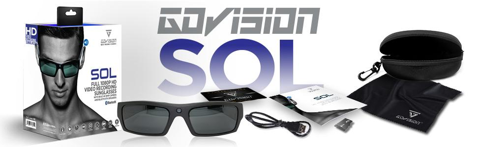 SOL Video Recording Sunglasses with Bluetooth Banner